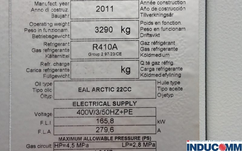 IS15-147 Chiller Nameplate